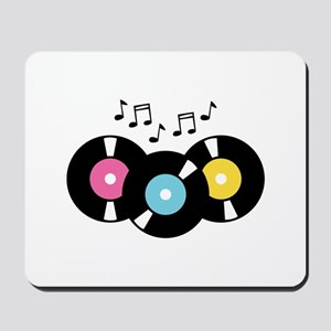 Music Records Notes Mousepad