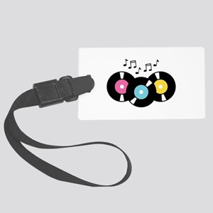 Music Records Notes Luggage Tag