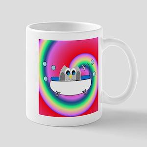 OWLSHOWERCURTAININTUB7 Mugs
