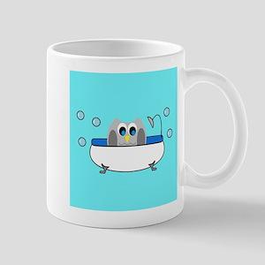 OWLSHOWERCURTAININTUB5 Mugs