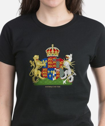 Anne Boleyn Coat of Arms Women's Dark T-Shirt