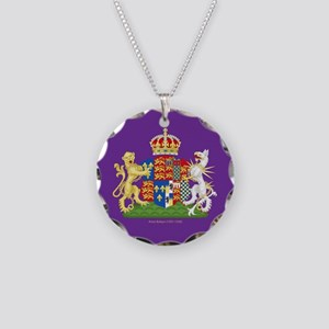 Anne Boleyn Coat of Arms Necklace Circle Charm