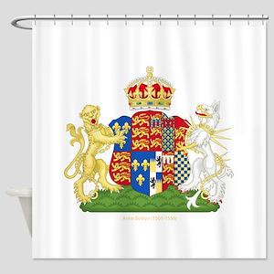 Anne Boleyn Coat of Arms Shower Curtain
