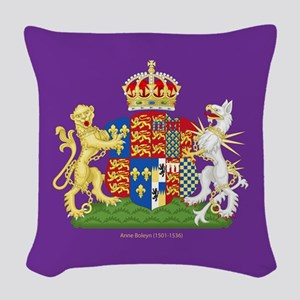 Anne Boleyn Coat Of Arms Woven Throw Pillow