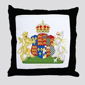 Anne Boleyn Coat of Arms Throw Pillow