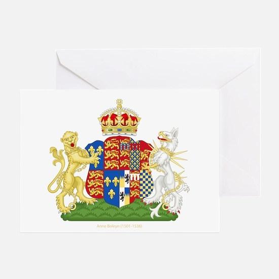 Anne Boleyn Coat of Arms Greeting Card