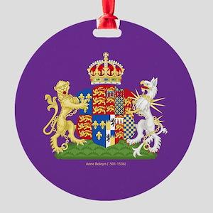 Anne Boleyn Coat of Arms Round Ornament