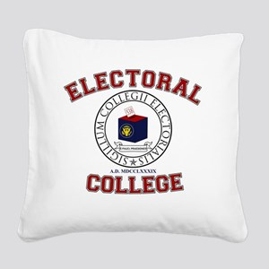 Electoral College Seal Square Canvas Pillow