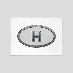 H Metal Oval 5'x7'Area Rug