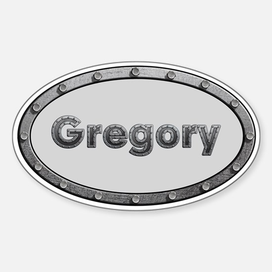 Gregory Metal Oval Decal