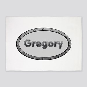 Gregory Metal Oval 5'x7'Area Rug