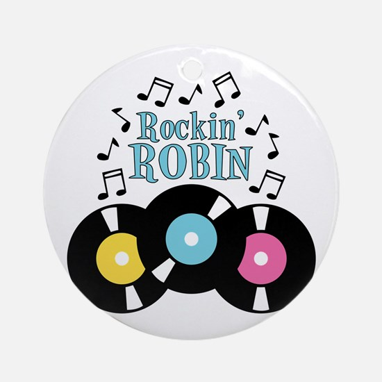 Rockin Robin Ornament (Round)