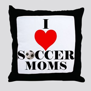 I Love Soccer Moms Throw Pillow