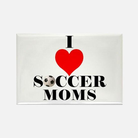 I Love Soccer Moms Rectangle Magnet (10 pack)