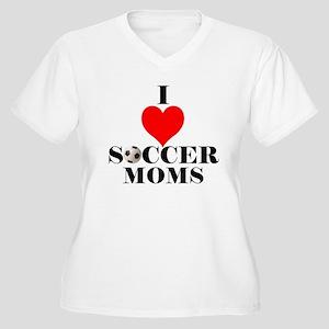 I Love Soccer Moms Women's Plus Size V-Neck T-Shir