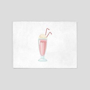 Strawberry Milkshake 5'x7'Area Rug