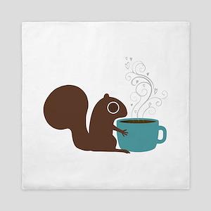 Coffee Squirrel Queen Duvet