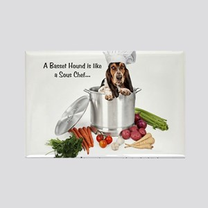 Basset Hound Sous Chef Magnets
