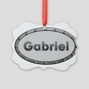 Gabriel Metal Oval Ornament