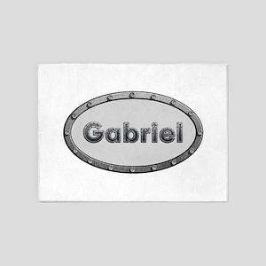 Gabriel Metal Oval 5'x7'Area Rug