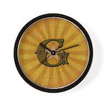 Masonic Letter G Wall Clock