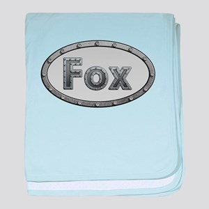 Fox Metal Oval baby blanket