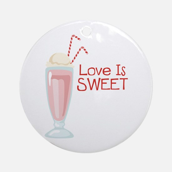 Love is Sweet Ornament (Round)