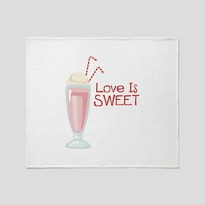 Love is Sweet Throw Blanket