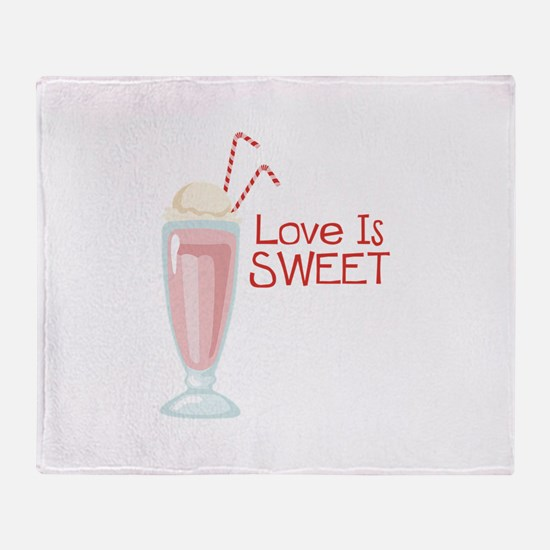 Love is Sweet Throw Blanket