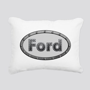 Ford Metal Oval Rectangular Canvas Pillow