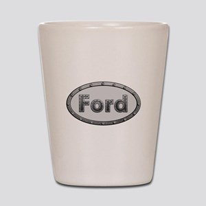Ford Metal Oval Shot Glass