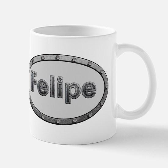 Felipe Metal Oval Mugs