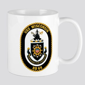 USS Wisconsin Mugs
