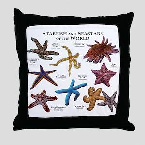 Starfish & Seastars of the World Throw Pillow