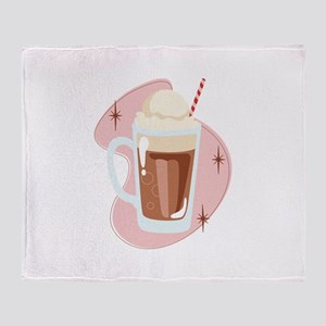 Root Beer Float Throw Blanket
