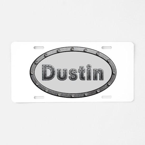 Dustin Metal Oval Aluminum License Plate