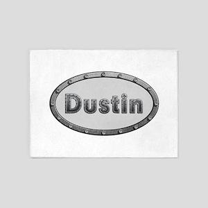 Dustin Metal Oval 5'x7'Area Rug