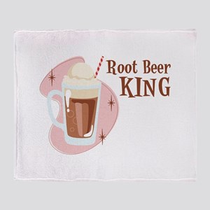 Root Beer King Throw Blanket
