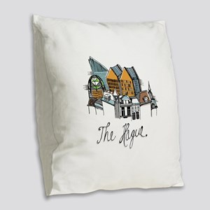 The Hague Burlap Throw Pillow