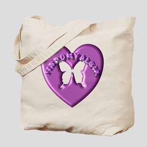 FIBRO HEART BUTTERFLY Tote Bag