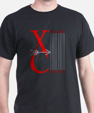 XC Run Red Gray T-Shirt