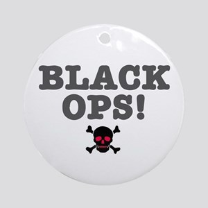 BLACK OPS Round Ornament