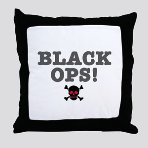 BLACK OPS Throw Pillow