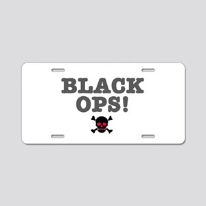 BLACK OPS Aluminum License Plate