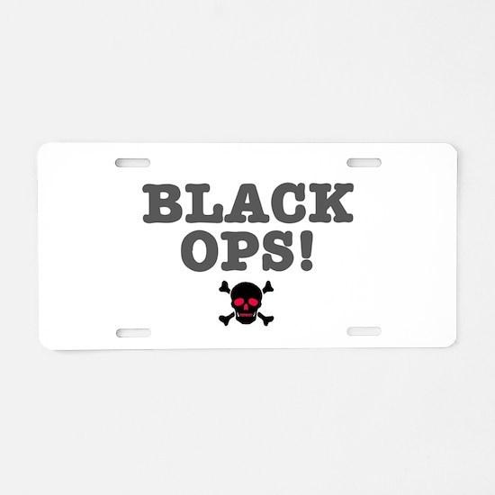 BLACK OPS Aluminum License Plate
