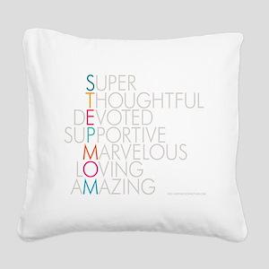 Super Stepmom Square Canvas Pillow