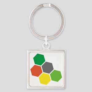 Settlers Resources Square Keychain