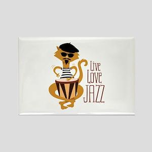 Live Love Jazz Magnets