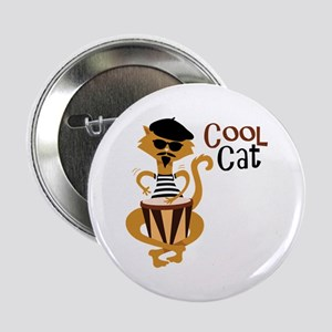 """Cool Cat 2.25"""" Button"""