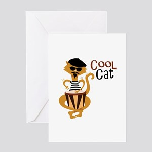 Cool Cat Greeting Cards